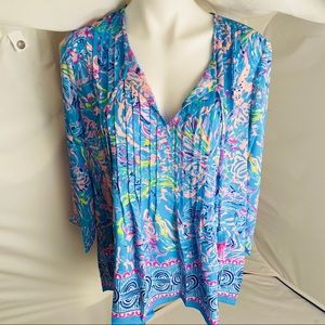 Lilly Pulitzer Marilina Tunic All Together Now L